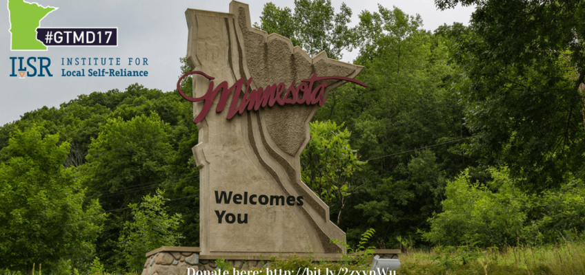 The Institute for Local Self-Reliance Participates in Minnesota's Give to the Max Day – 2017