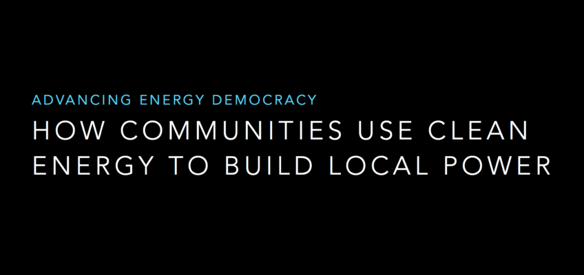 Video: How Communities Use Clean Energy to Build Local Power – Alternative Energy Resources Expo