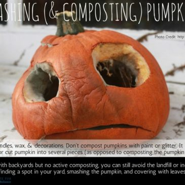 Smashing (& Composting) Pumpkins