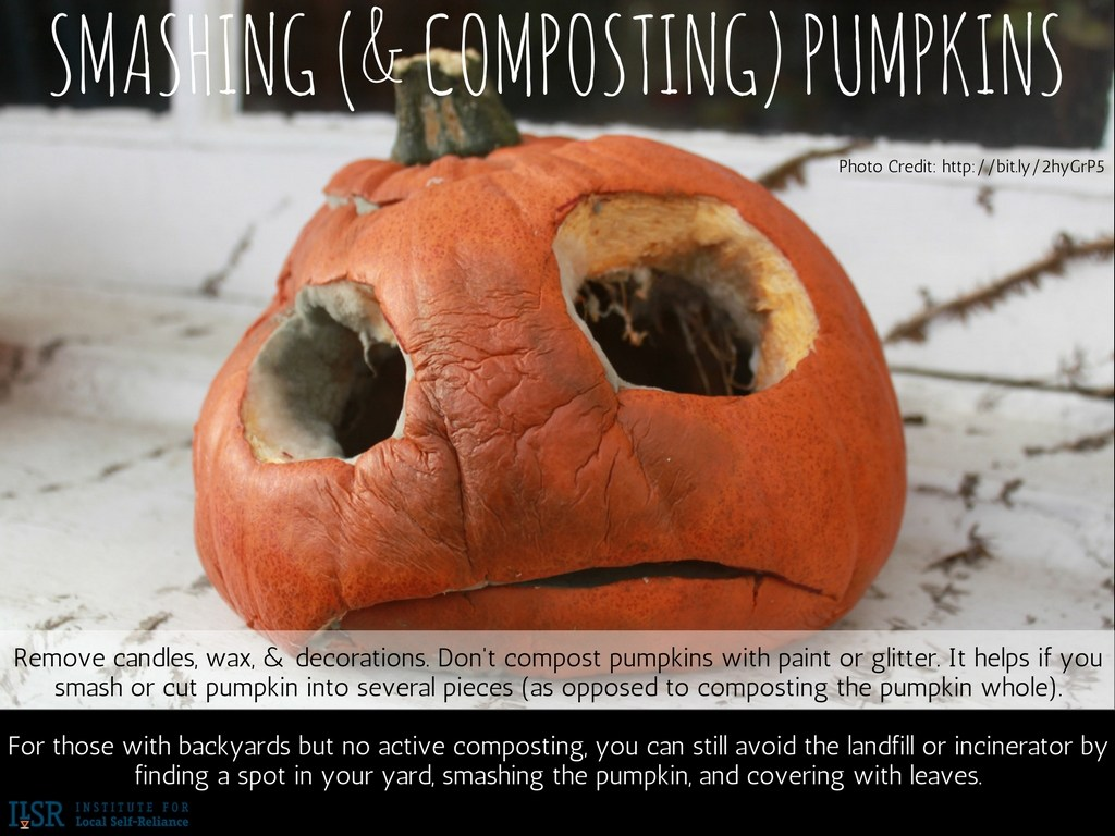 Smashing Composting Pumpkins Institute For Local Self