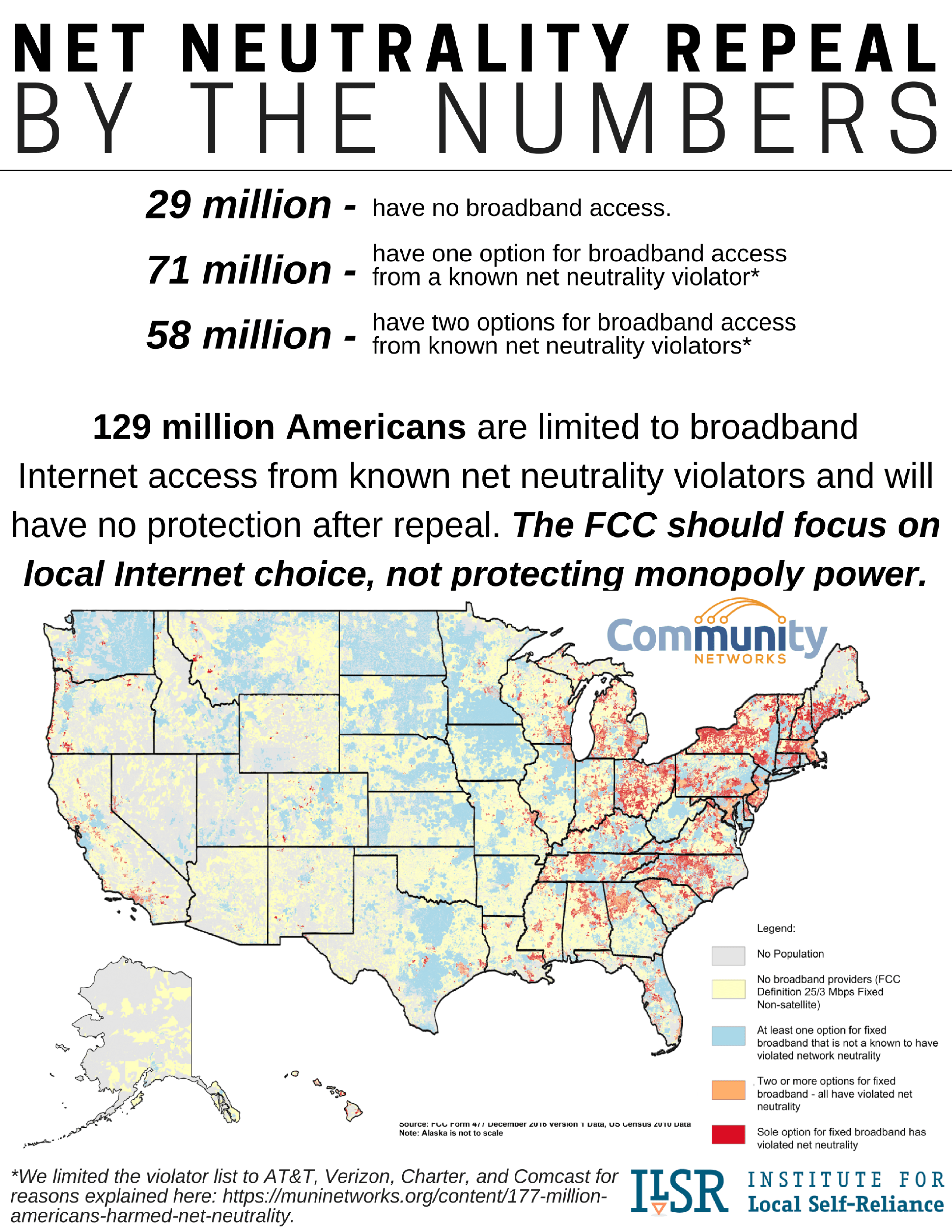 Net Neutrality Repeal Fact Sheets: By The Numbers Maps And Data