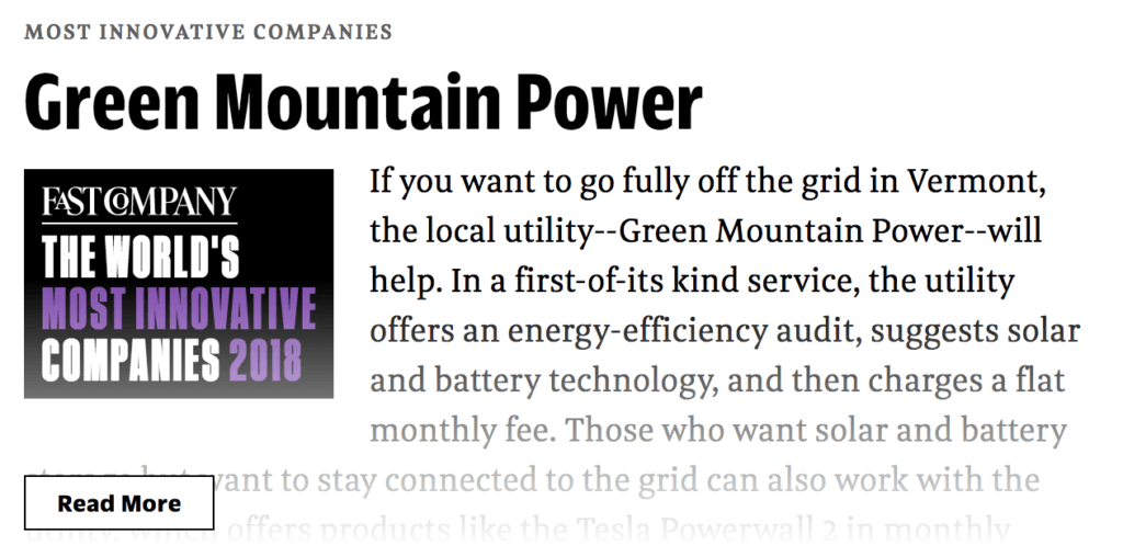 Named #1 Innovative Company in the Energy Sector