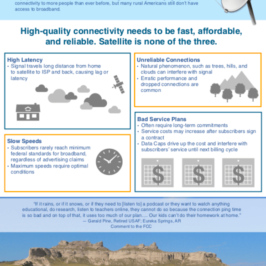 "Fact Sheet Explains Why ""Satellite Is Not Broadband"""