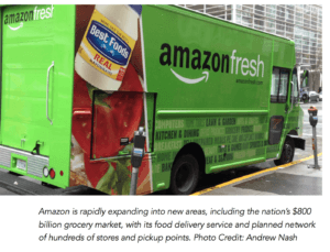 Amazon new areas food delivery