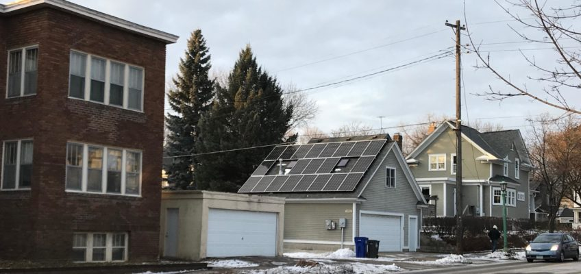 Saint Paul, Minn — Solar Array Garage Winter 2018 (c) Marie Donahue | Energy Democracy 2018 NYE Local Energy Rules Episode