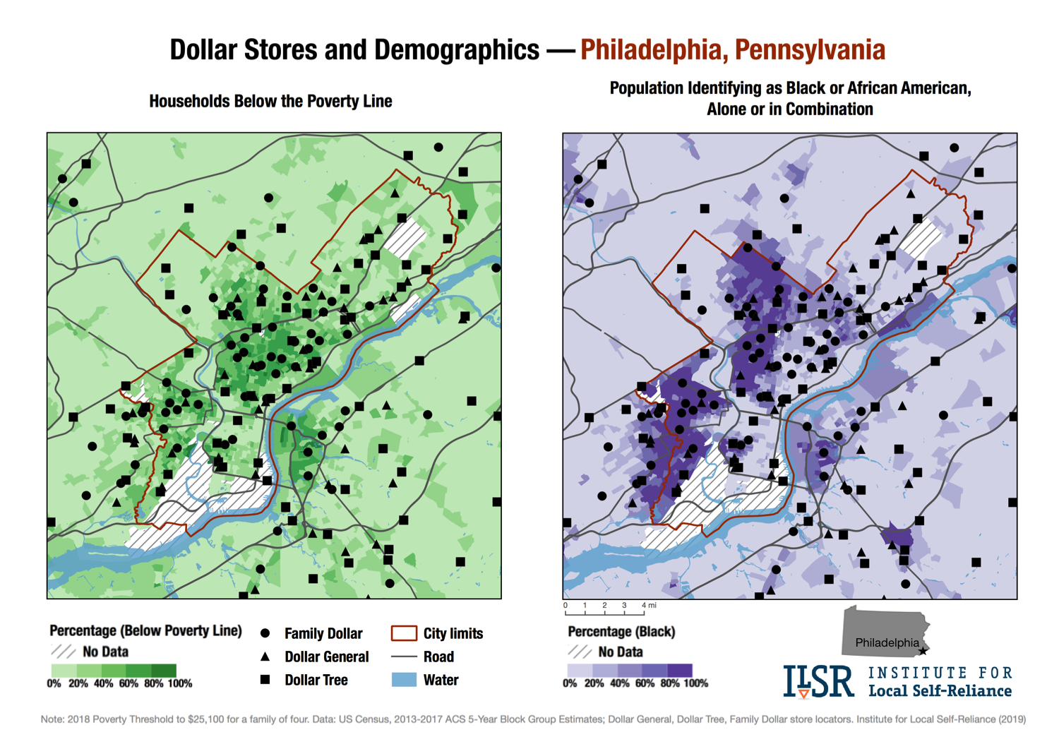 New Maps Show Alarming Pattern Of Dollar Stores Spread In Us - Us-demographics-map