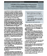 Is Publicly Owned Information Infrastructure A Wise Public Investment for San Francisco?