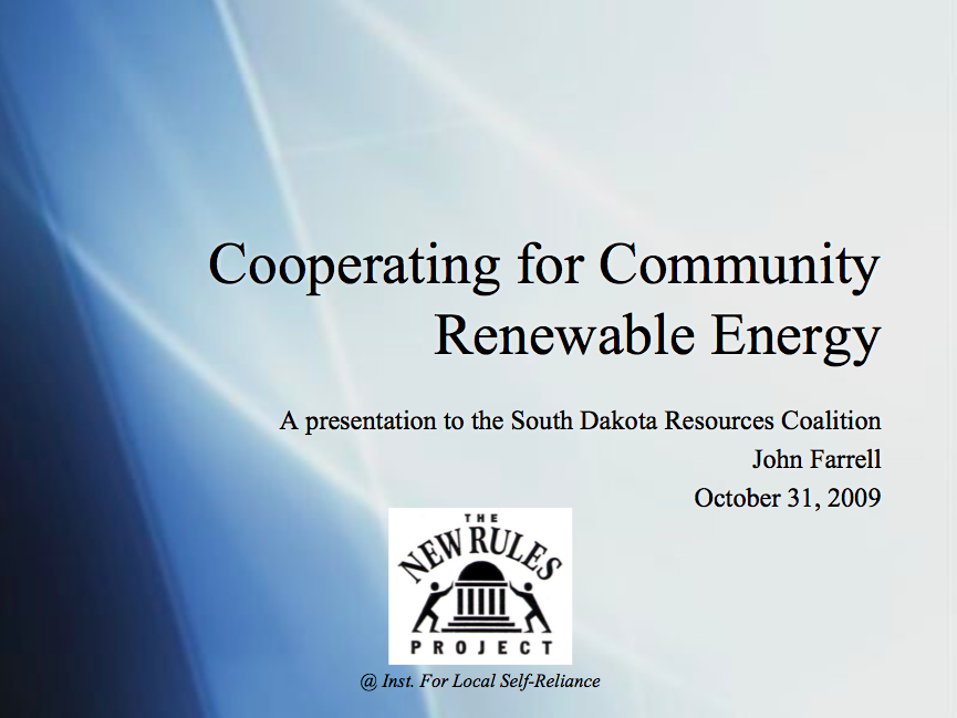 Listen: Cooperating for Community Renewable Energy