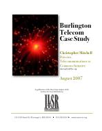 Burlington Telecom Case Study