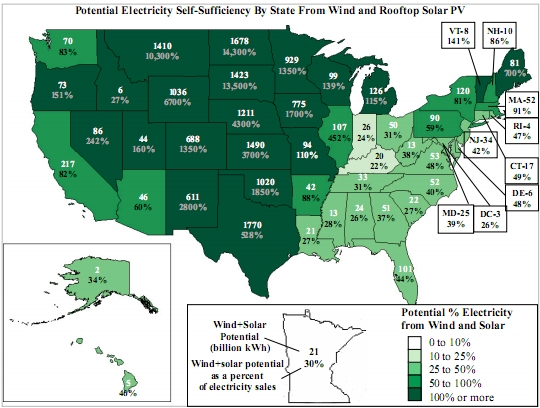 Self-Sufficiency Map