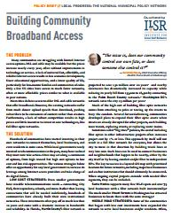 Policy Brief: Building Community Broadband Access